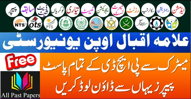 AIOU Past Papers of Matric to Master Level
