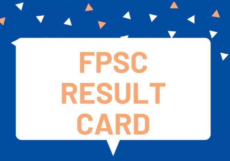 FPSC Result Card