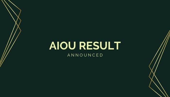 AIOU RESULT Announced